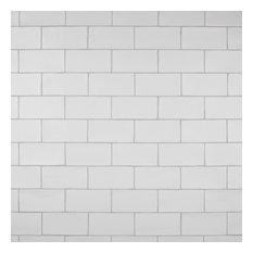 """Gloucester Ceramic Wall Tiles, 3""""x6"""", Matte White"""
