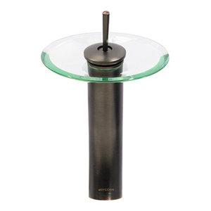 Dyconn Faucet Glass Head Waterfall Bathroom Vessel Faucet