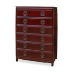 Korean Antique Style 3 Drawer End Table Chest - Dressers   Houzz