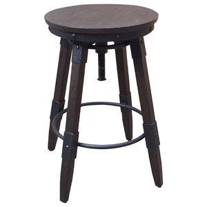Pleasant Cyprus Counter Height Swivel Backless Barstool Bonded Evergreenethics Interior Chair Design Evergreenethicsorg