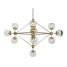 Modern Antique Brass Metal Constellation Orb Chandelier Chandeliers