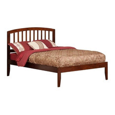 Atlantic Furniture Richmond Full Spindle Platform Bed in Walnut