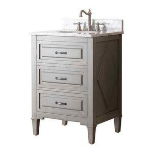 25 in. Single Sink Vanity in Grayish Blue Finish