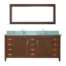 Jackie 72'' Vanity Set, Cherry and Mint Green Glass