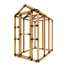 4ft W x 6ft D  E-Z Frame Basic Storage Shed Kit