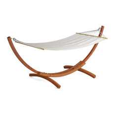 corliving distribution llc   corliving wood canyon larch wood patio hammock   hammock stands and accessories hammock stands and accessories   up to 70  off   free shipping on      rh   houzz
