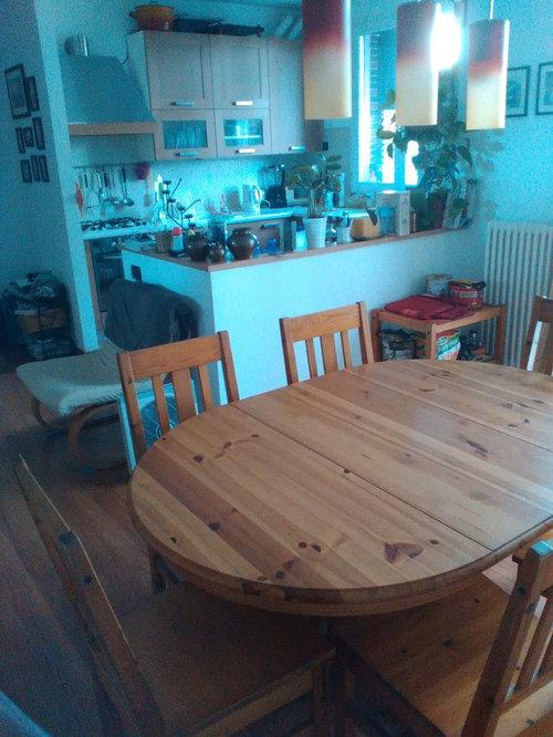 Cucina-pranzo-soggiorno si/no al muretto divisorio/nuova disposizione