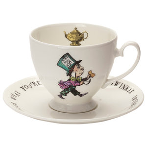 Mad Hatter Teacup and Saucer