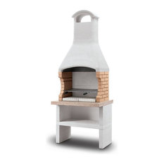 LaToscana Ariel Wood-Charcoal Grill/Fireplace Adjustable in 4 Heights