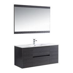 "Blossom Valencia 48"" Vanity Set, Silver Gray, Mirror, Single"