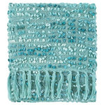Company C - Park Acrylic Hand Woven Throw Blanket, Sky - The delicious textures and delightful colors of the Park Throw make it an inviting accent for any room. Variegated yarn is hand-woven in a popcorn-like stitch, giving this throw its distinctive texture and coloration. It's finished with a long hand-knotted fringe.