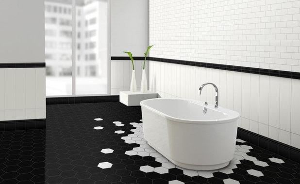 bagno in bianco e nero: mostrate il vostro lato optical - Bagni Moderni Neri