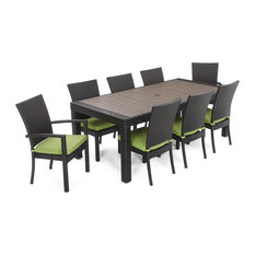 Residence - Jayson 9-Piece Outdoor Dining Set, Green - Outdoor Dining Sets