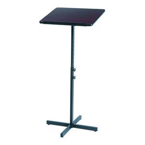 Contemporary Lectern, Steel Frame and Black MDF Top, Adjustable Design