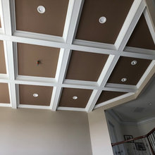Coffered Ceiling In family room ...