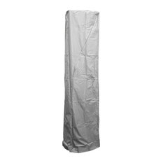 Patio Heater Cover for Square Glass Tube Heater, Silver