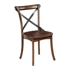 Alpine Furniture Arendal Set of 2 Side Chairs in Burnished Dark Oak (Brown)