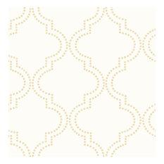 Tetra Cream Quatrefoil Wallpaper Bolt