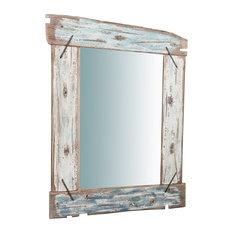 Rustic Rectangular Wall Mirror, 65x86 cm