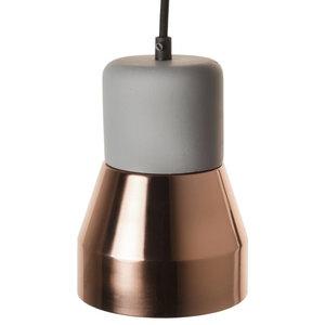 Luxe Copper Pendant Lamp, Concrete