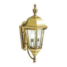 Solid brass outdoor lights houzz kichler grove mill outdoor wall 2 light polished brass outdoor wall lights aloadofball Images
