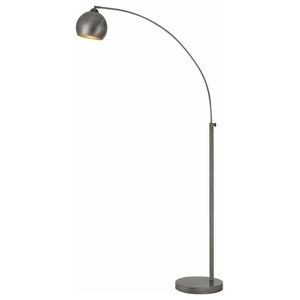 Penbrook 1 Light Silver Plated And White Marble Floor Lamp