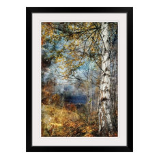 """""""Kootenay Fall"""" Black Framed Art Print, 28""""x38""""x1"""""""