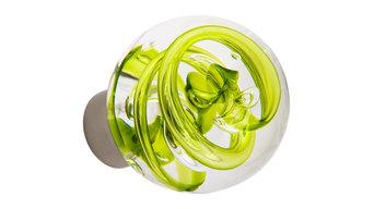 Bouton de porte Tubes de bulles Vert Anis