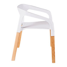 Adeelo Stacking Chair, White