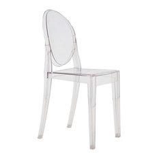 TRIBECA DECOR   Fine Mod Imports Clear Side Chair, Clear   Dining Chairs