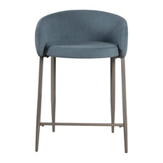 Hillsdale Furniture Cromwell Metal Counter Height Stool In Blue Velvet