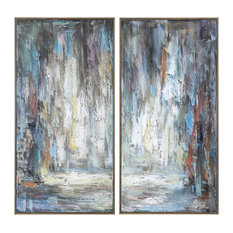 Uttermost Artist's Palette Hand Painted Canvases, Set/2
