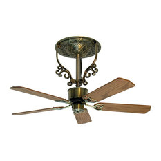 Americana Short Fan Assembly, Antique Brass