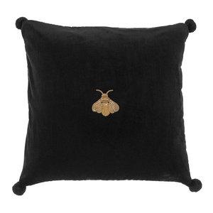 Black Bee Velvet Pillow | Eichholtz Lacombe, black, 23