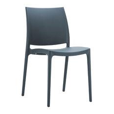 Compamia Maya Dining Chairs, Set of 2, Dark Gray