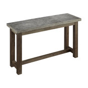 Home Styles Concrete Chic Console Table in Brown and Gray
