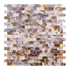 Mother of Pearl Oyster Mini Brick Shell Mosaic Tile, Single Tile