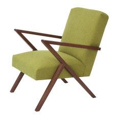 Retrostar Basic Armchair, Mustard Green