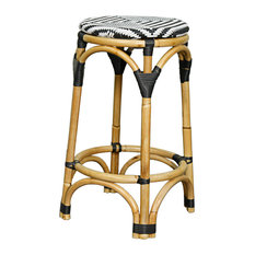 New Pacific Direct Inc.   Adeline Backless Bistro Counter Stool, Black And  White