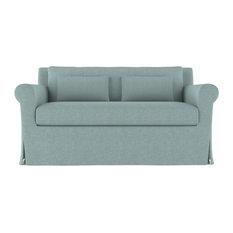 Ludlow 5' Linen Sofa Jade Garden Classic Depth