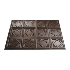 ACP-Acoustic Ceiling Products Smoked Pewter Tradition 4 Panel D61-27, 5-Pack