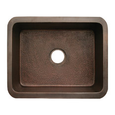 Whitehaus Collection Bronze Copperhaus Rectangular Undermount Sink Hammered Bronze Kitchen Sinks