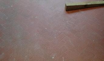 Quarry tile porch