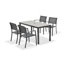 MOD - Belem 5-Piece Gray Patio Dining Set - Outdoor Dining Sets