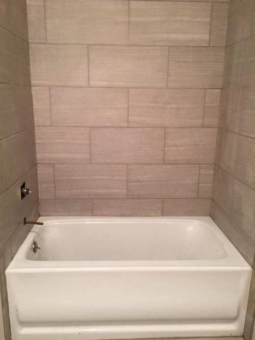 Tile around tub does not look right