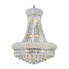 "Bagel 14 Light 20"" Chrome Chandelier With Clear European/Swarovski Crystals"