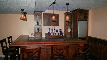 Richfield Ohio custom built home bar