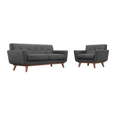 Gray Engage Armchair And Loveseat Set Of 2