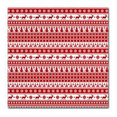 Trademark Fine Art - Jean Plout 'Alpine Christmas 1' Canvas Art, 14x14 - Holiday Decorations