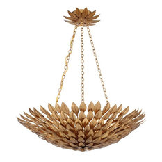 Broche 6-Light Chandelier, Antique Gold